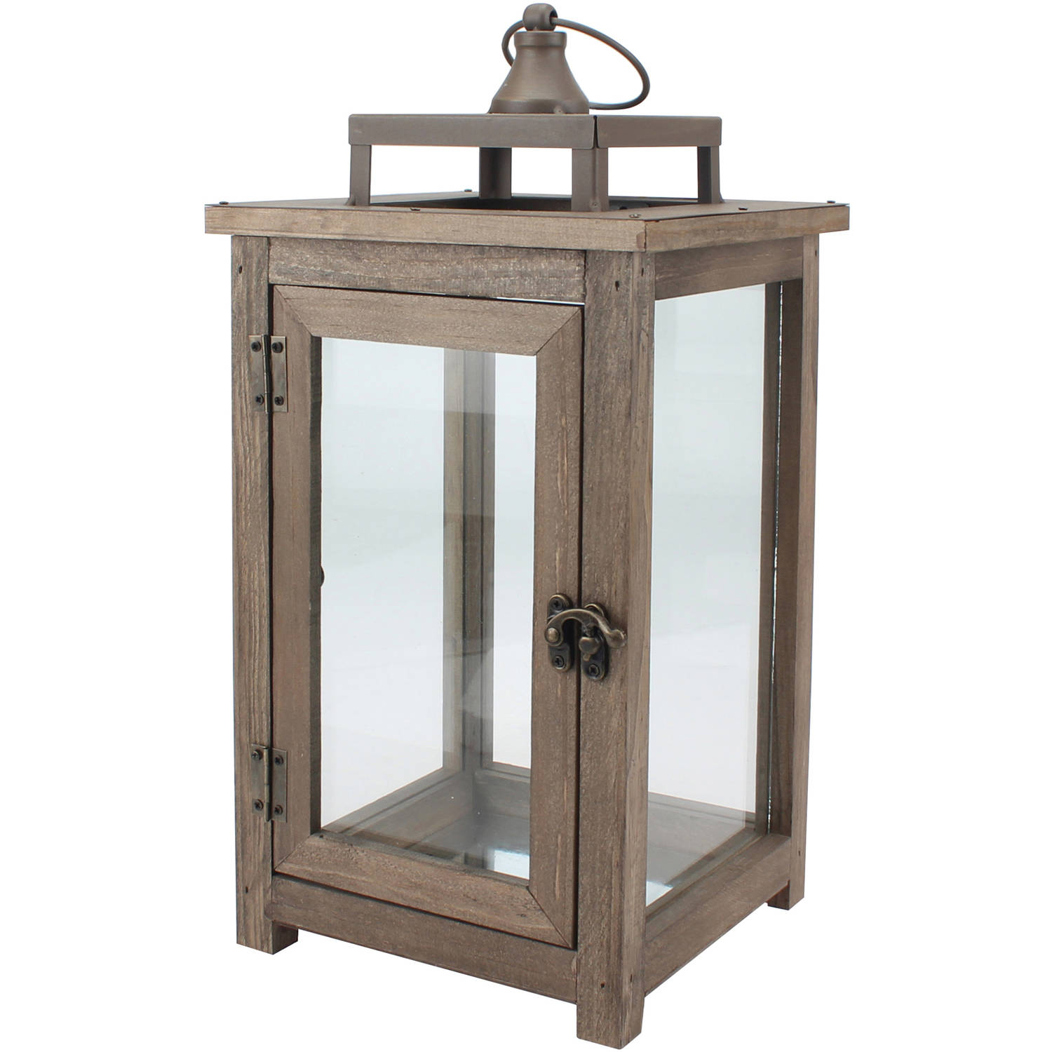 Better Homes and Gardens Large Lantern, Farmhouse Rustic Finish