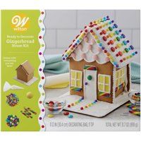 Wilton Ready to Decorate Colorful Townhome Gingerbread House Decorating Kit