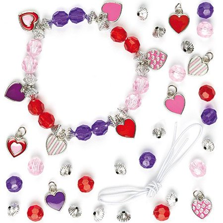Heart Charm Bracelet Jewelry Kits For Children To Make   Wear  Pack Of 3   Charming   Pretty Heart Charm Bracelets For Kids To Make And Wear Or    By Baker Ross Ship From Us