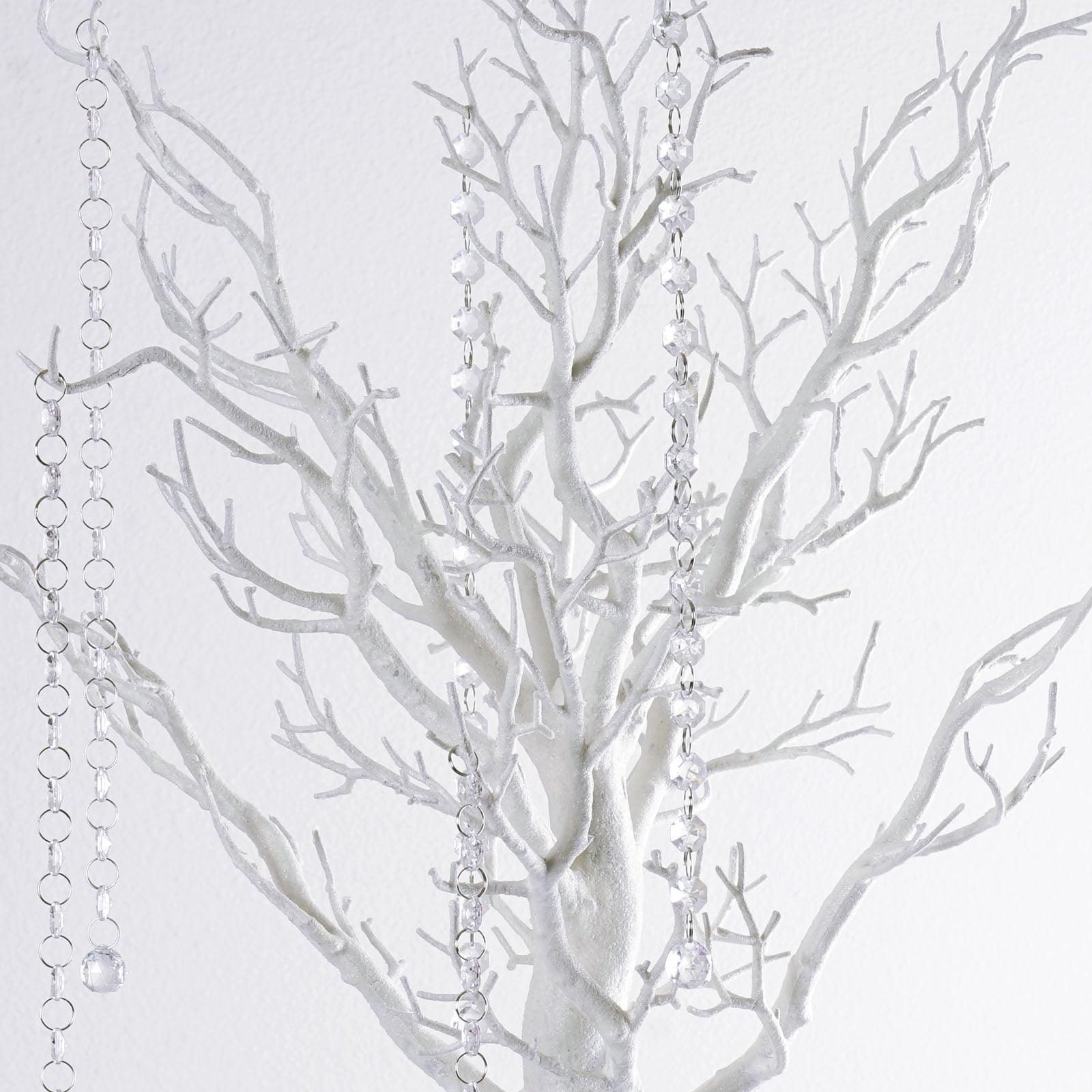Balsacircle 30 Glittered Manzanita Tree With Garlands Wedding