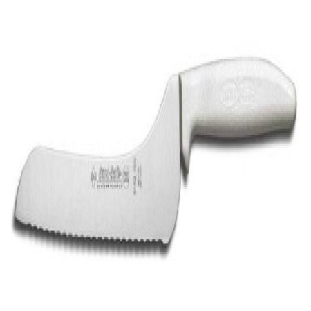 Dexter Russell Sani-Safe White Handle 7 In. Scalloped Offset Slicer