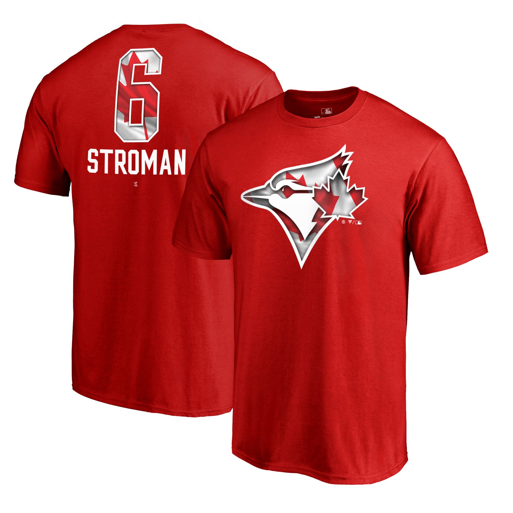 Marcus Stroman Toronto Blue Jays Fanatics Branded 2018 Stars & Stripes Big & Tall Banner Wave Name & Number T-Shirt - Red