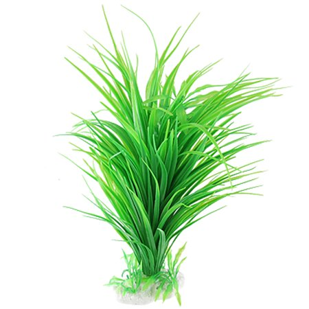 - Unique Bargains Unique Bargains Ceramic Base Green Plastic Mixed Long Slim Leaves Grass Plant