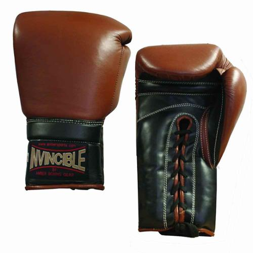 Invincible Pro Laceup Training Boxing Gloves (12 oz.)