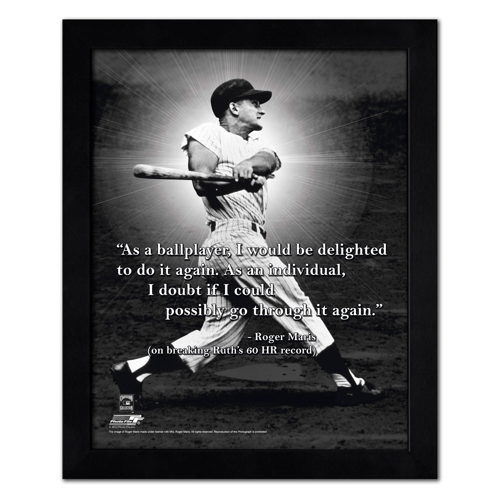 "Roger Maris New York Yankees 18"" x 22"" ProQuote Photo - No Size"