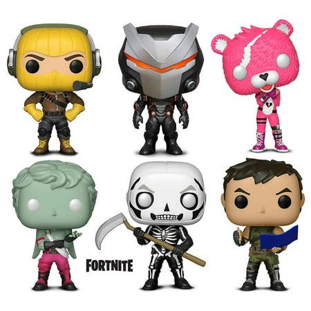 Warp Gadgets Bundle - Funko Pop GamesFortniteS1 - Cuddle Team Leader, Omega, Raptor, Love Ranger, Highrise Assault Trooper and Skull Trooper (6 Items) (Adjustable Pop Up Rotor)