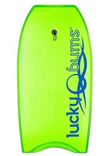 Click here to buy Lucky Bums Body Board with EPS Core, Slick Bottom, and Leash, 33- Inches, Green by Lucky Bums.
