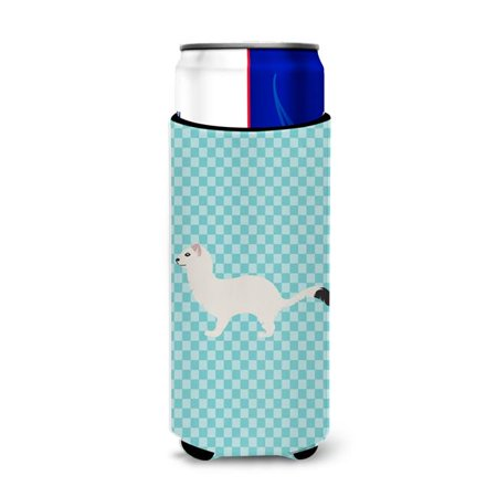 Stoat Short-tailed Weasel Blue Check Michelob Ultra Hugger for Slim Cans - image 1 de 1