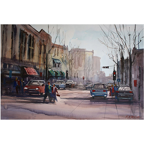 "Trademark Art ""Another Day in Fond du Lac"" Canvas Art by Ryan Radke"