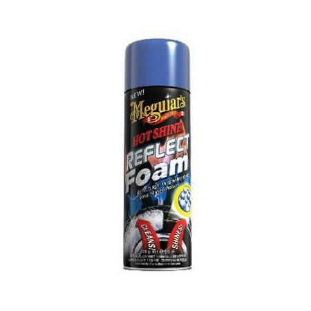 Fluid Foam - Meguiars G2819 Hot Shine Reflect Tire Foam Aerosol, 15-oz.