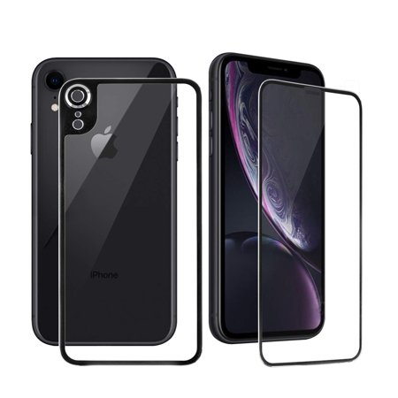 [2-Pack] Apple iPhone XR Front and Back Glass Screen Protectors, HD Clear, Compatible Apple iPhone XR 6.1 inch 2019