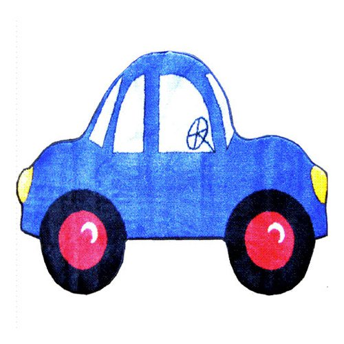 L.A. Rugs Blue Car Kids Area Rug - Assorted Colors