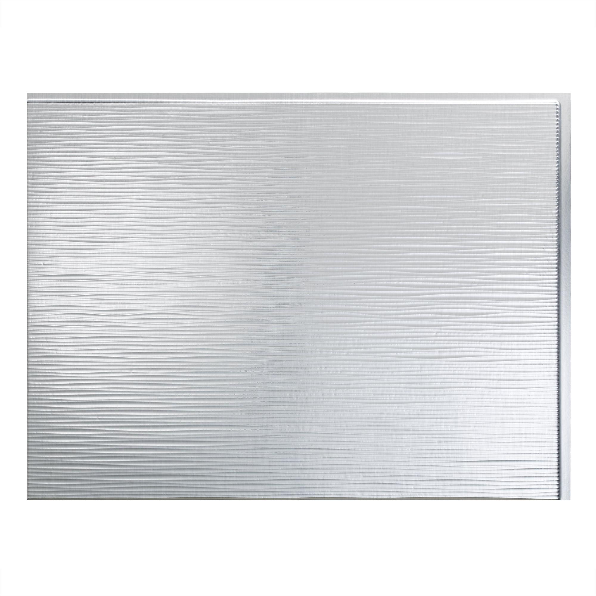 - Fasade Easy Installation Ripple Brushed Aluminum Backsplash Panel