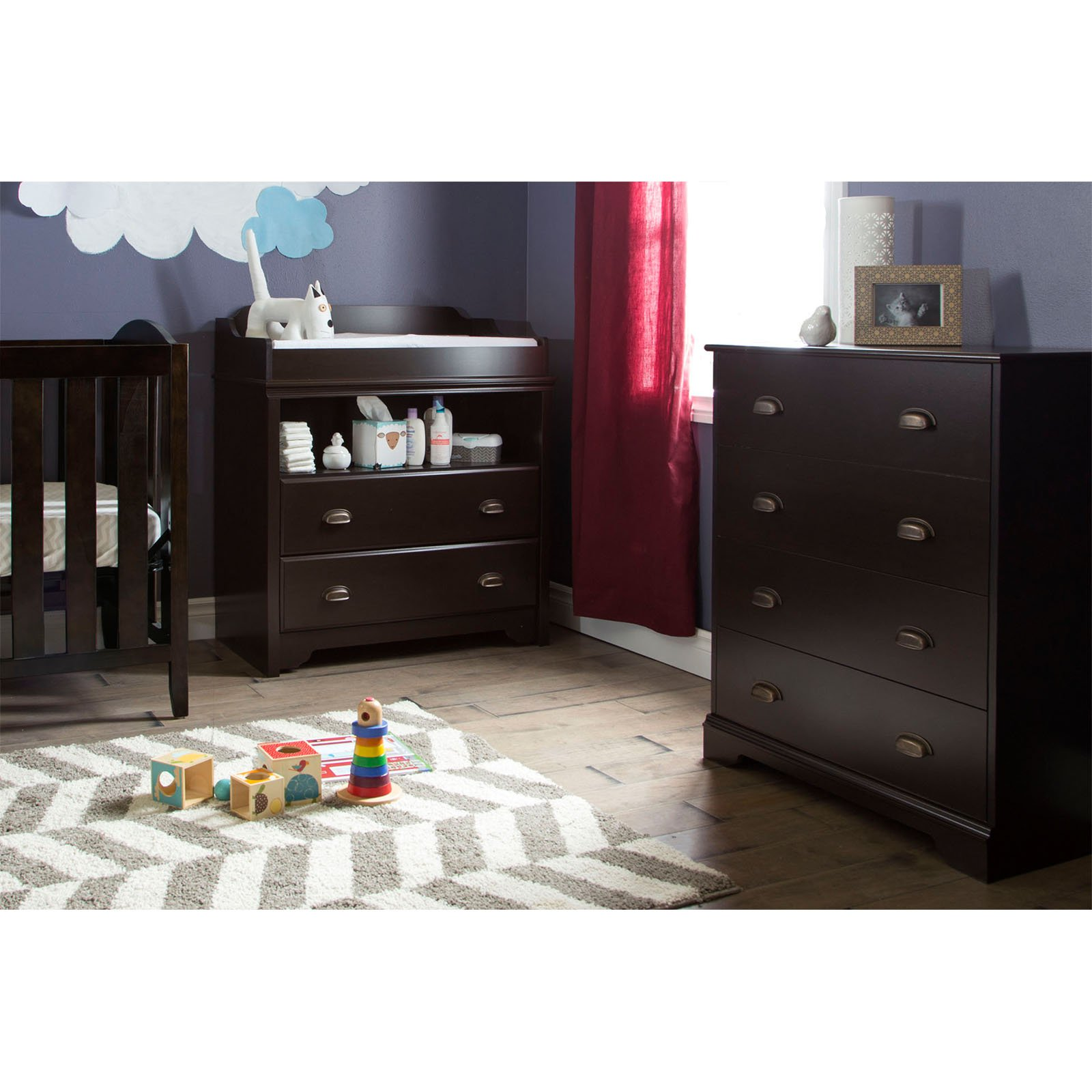 South Shore Fundy Tide Changing Table and 4-Drawer Chest, Multiple Finishes by South Shore Furniture