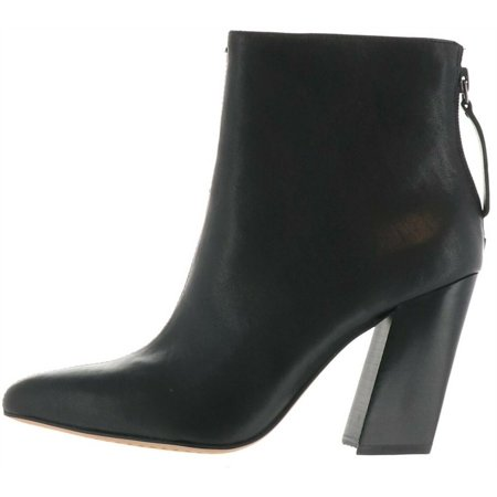 Vince Camuto Leather Block Heel Ankle Boots Saavie A370840 Gothic Leather Boots