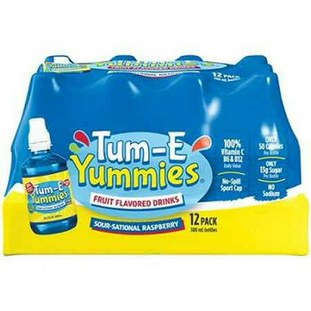 Tum-e Yummies Fruit Flavored Drink, Sour-sational Raspberry, 10 Oz (Pack of 12