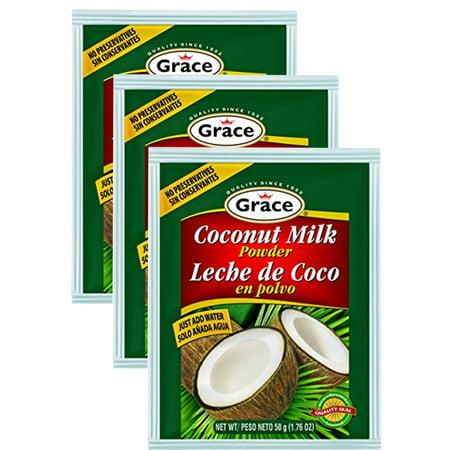 Grace Coconut Milk Powder 1.76 oz Pack of 3 (Maggi Coconut Milk Powder)