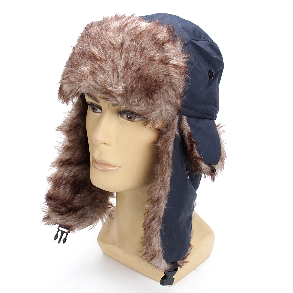 FUR WINTER Taslon Rabbit Fur Aviator Outdoor Trapper Trooper Pilot Ski Hat