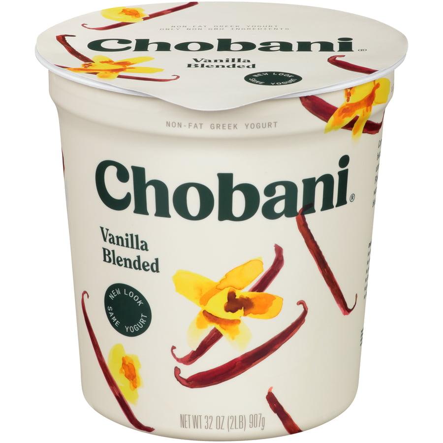 Chobani, Vanilla Blended Non-Fat Greek Yogurt, 32 oz