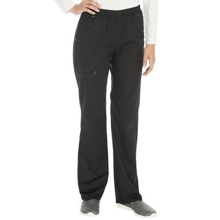 - SCRUBSTAR Women's Stretch Poplin Color-Pop Pull-On Scrub Pant