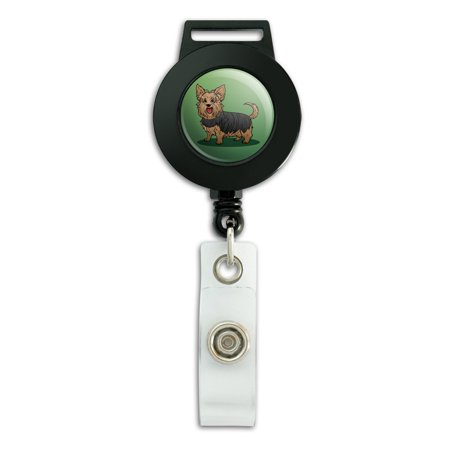 Yorkshire Terrier Yorkie with Tongue Out Lanyard Retractable Reel Badge ID Card Holder