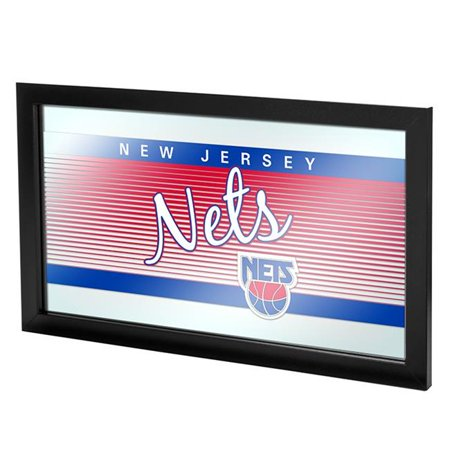 Trademark Global NBA1500HC-NJN NBA Hardwood Classics Logo Mirror - New Jersey Nets
