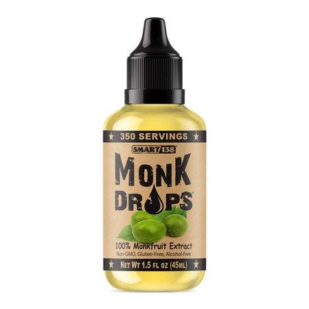 - Monk Drops - 100% Monkfruit Liquid Sweetener, Zero Glycemic, Zero Calories, Zero Sugar, No Added Water, Concentrated Monk Fruit (350 Servings) Original 1 Pack