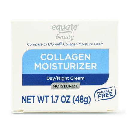 (2 Pack) Equate Beauty Collagen Moisturizer Day/Night Cream, 1.7 (Etude House Moistfull Collagen Water Jelly Cream)