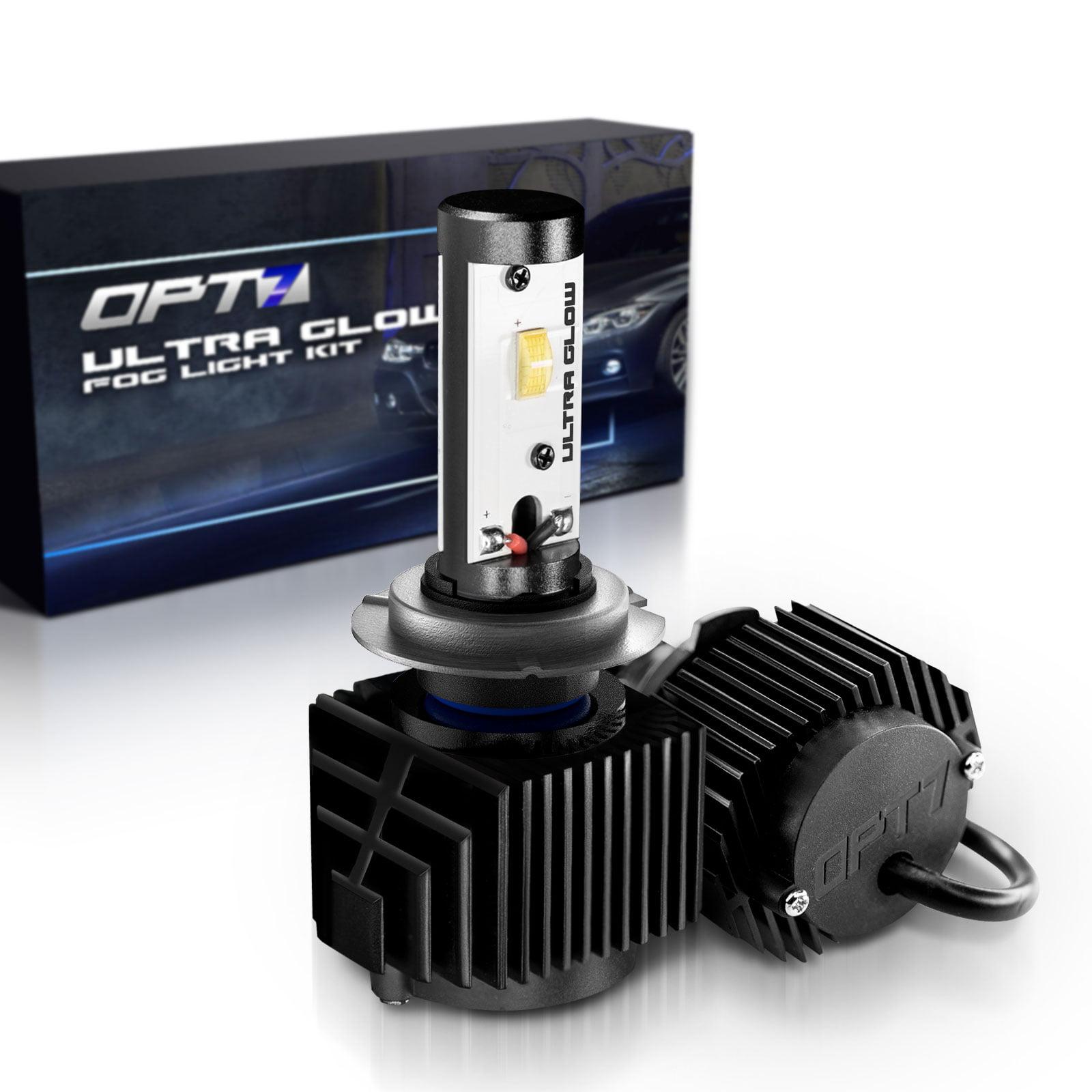 OPT7 5202 2504 Ultra Glow LED Fog Light Bulbs - 6000K Lighting White @ 1,400 Lm per bulb - Free Warranty (Pack of 2)