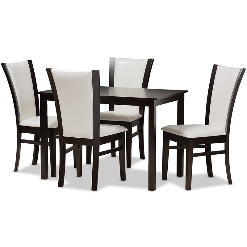 Baxton Studio Adley 5 Piece Rectangular Dining Set