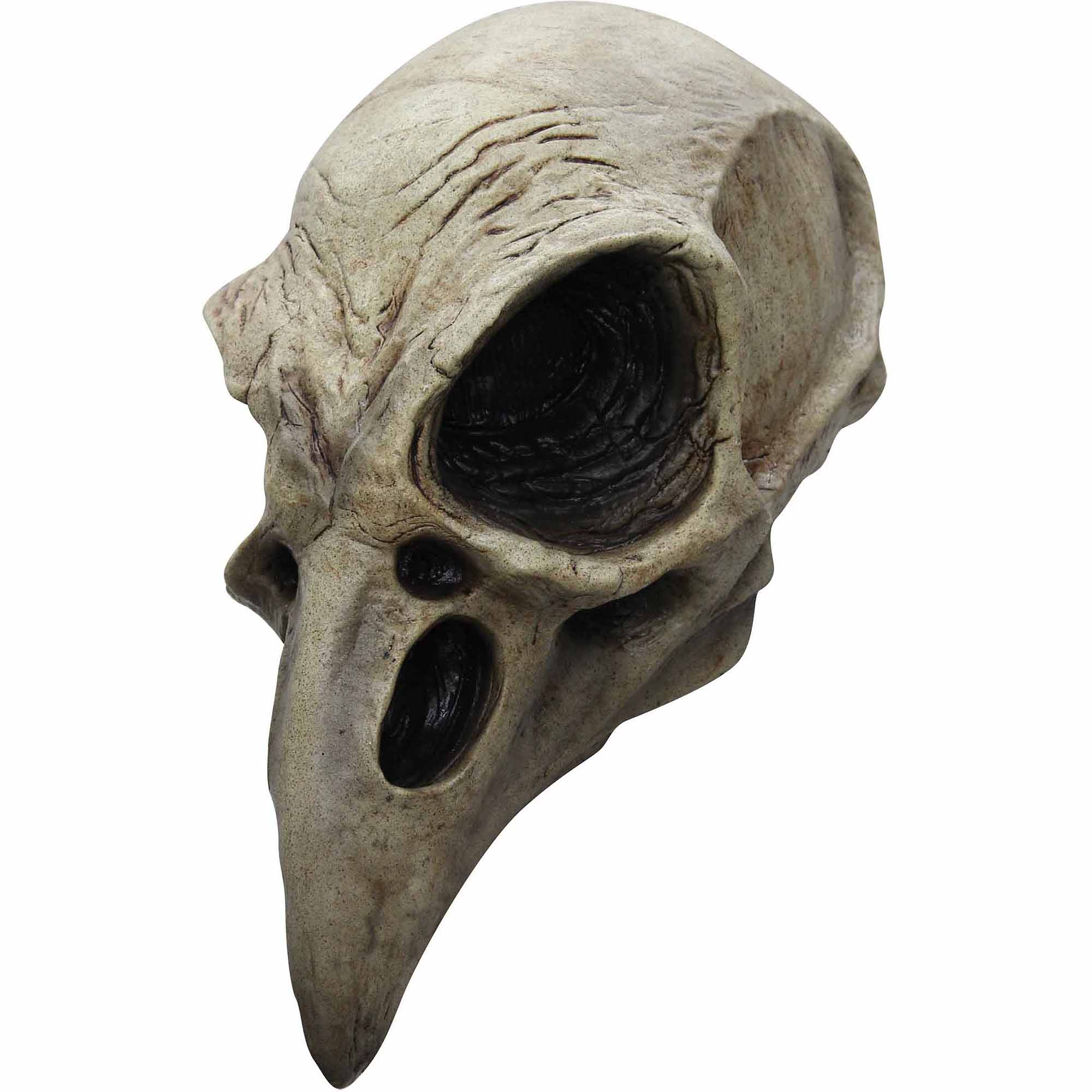 Crow Skull Latex Mask Adult Halloween Accessory