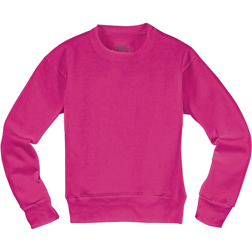 Hanes - Girls' EcoSmart Fleece Crew Sweatshirt