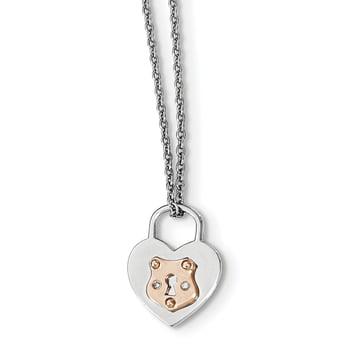 Lex /& Lu Sterling Silver 02ct Matte Finish Diamond Flower Necklace 18