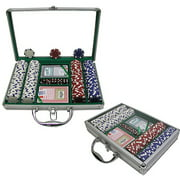 Trademark Poker 200 Dice Striped 11.5 Gram Chips with Clear Cover Aluminum Case