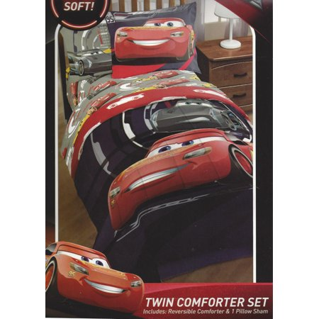 DISNEY PIXAR CARS HOME FORCE TWIN SIZE COMFORTER