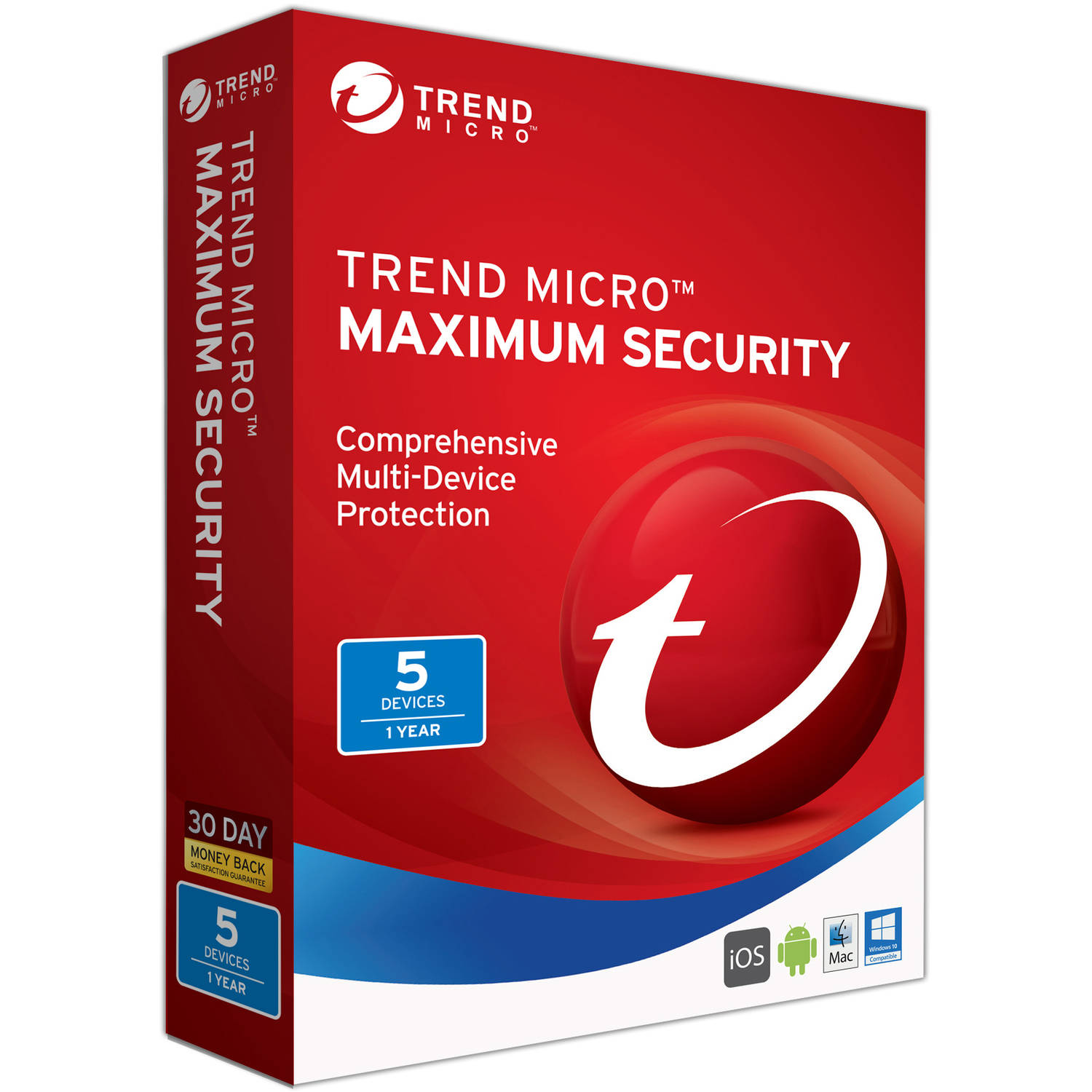 Trend Micro Maximum Security, 5 User