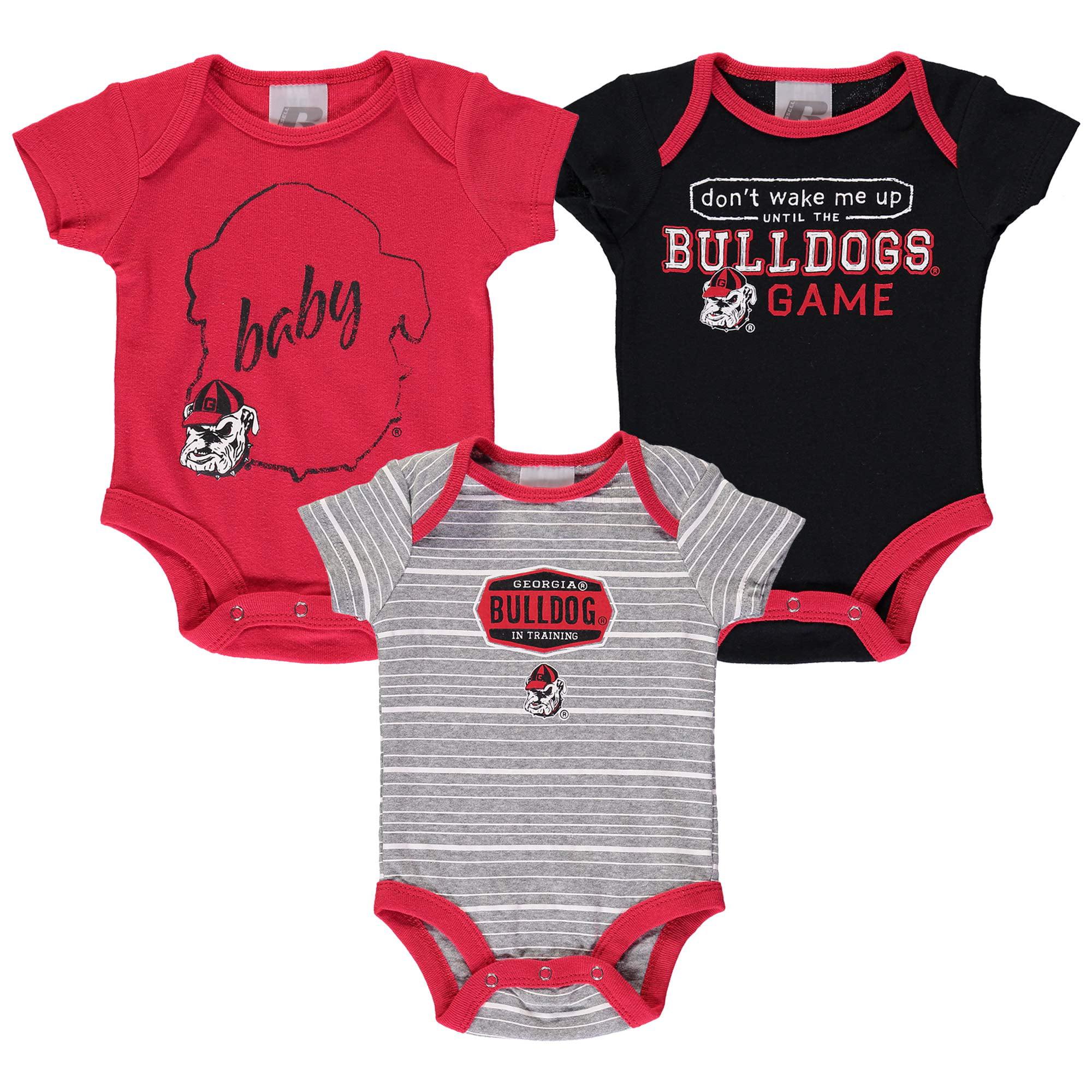 Newborn & Infant Russell Red Georgia Bulldogs Three-Pack Bodysuit Set