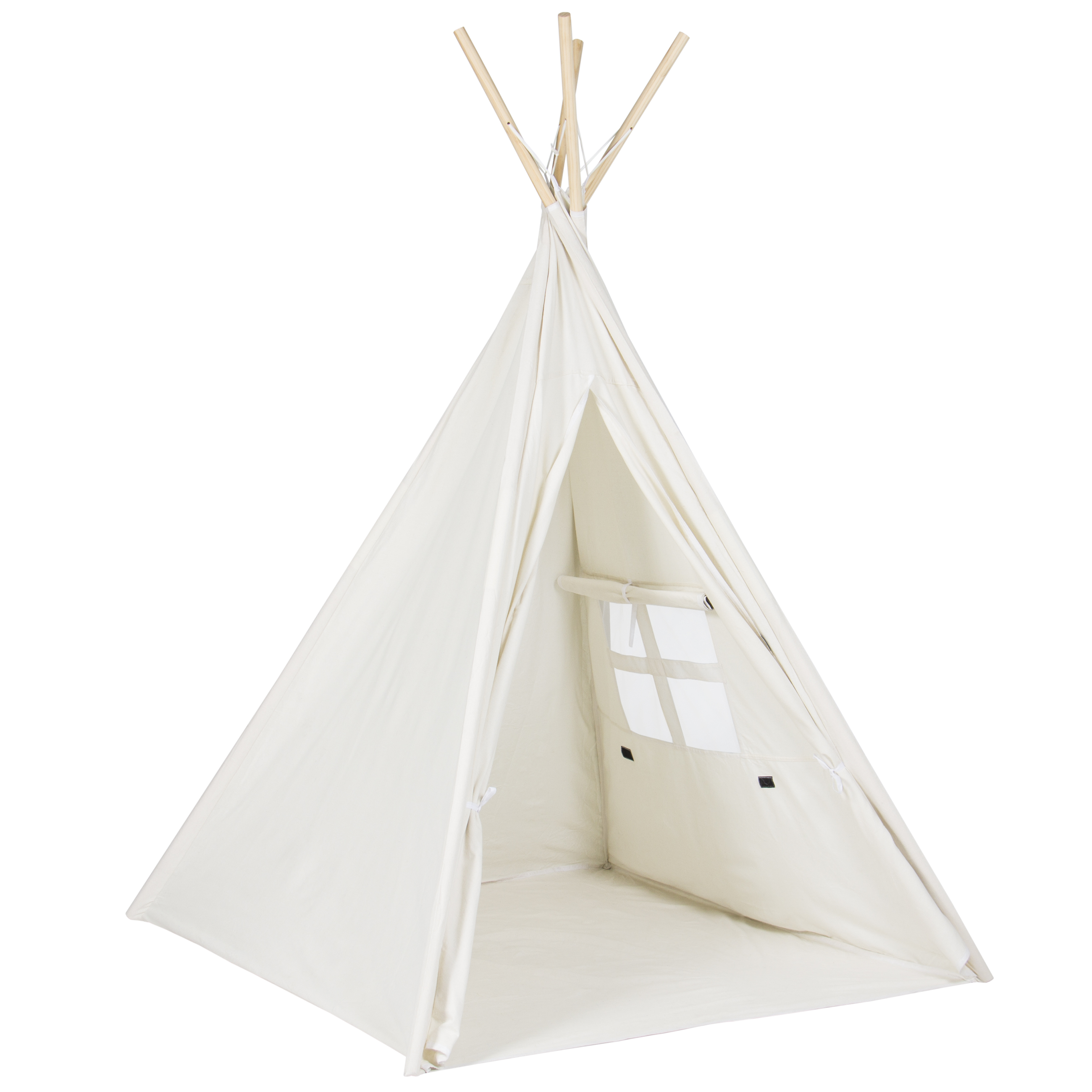 Best Choice Producst 6 White Teepee Tent Kids Indian Playhouse