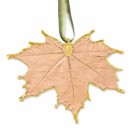 Lacquer Dipped 24k Trim Copper Sugar Maple Decorative - Copper Leaves