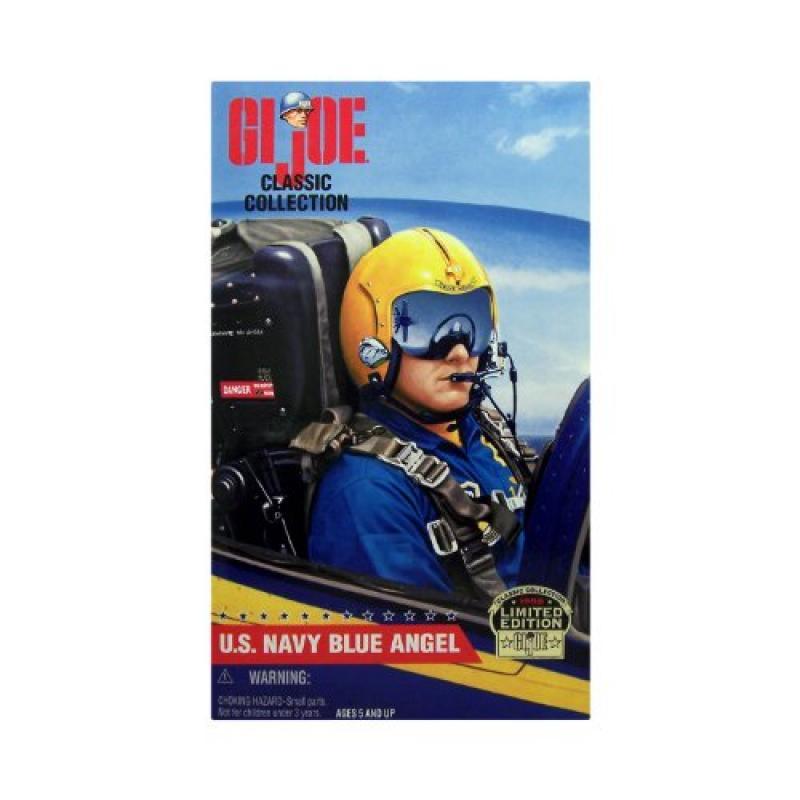 12 GI Joe Classic Collection U.S. NAVY BLUE ANGEL Pilot Caucasian Action Figure (1998 Hasbro) by Hasbro by Hasbro