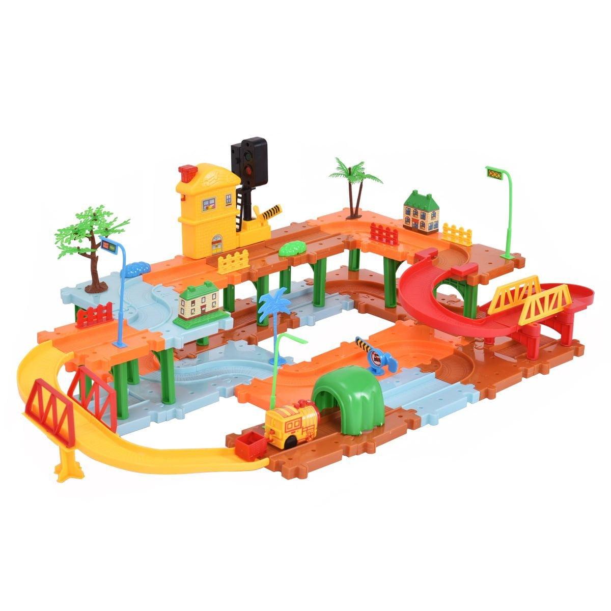 New MTN-G 66PCS Plastic Brick Toys Electronic Building Blocks Railway Train w  Light Music by Quality Brand