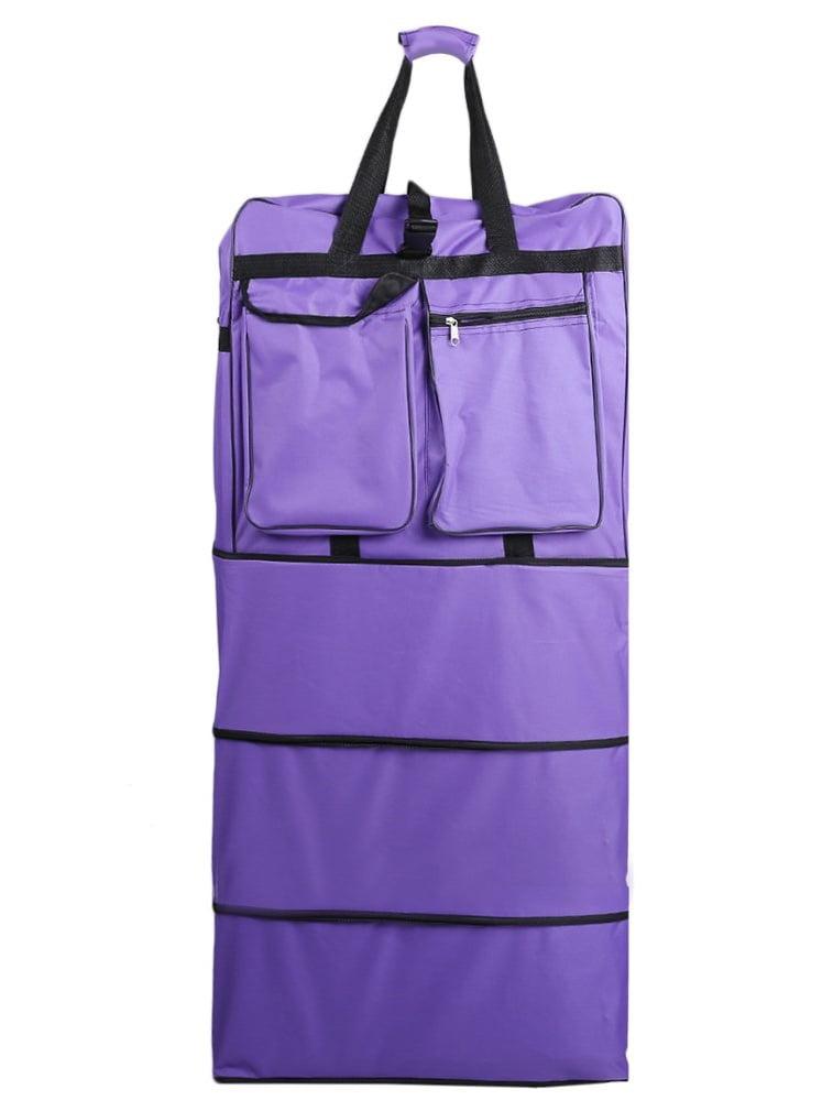 Large 40'' Wheeled Rolling Spinning Suitcase Duffel Bag Travel Luggage Black by konxa