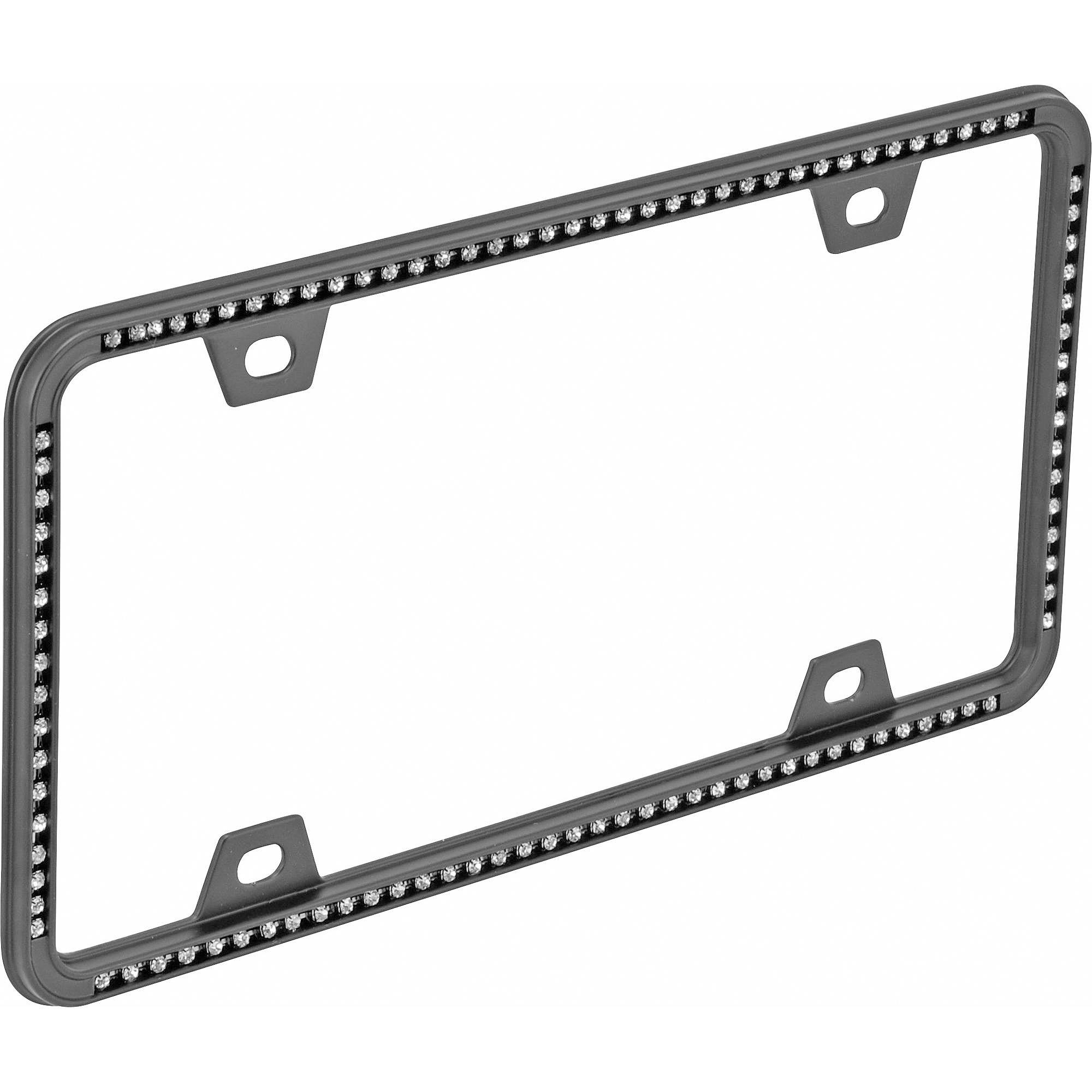 Auto Drive Diamond License Plate Frame, Black