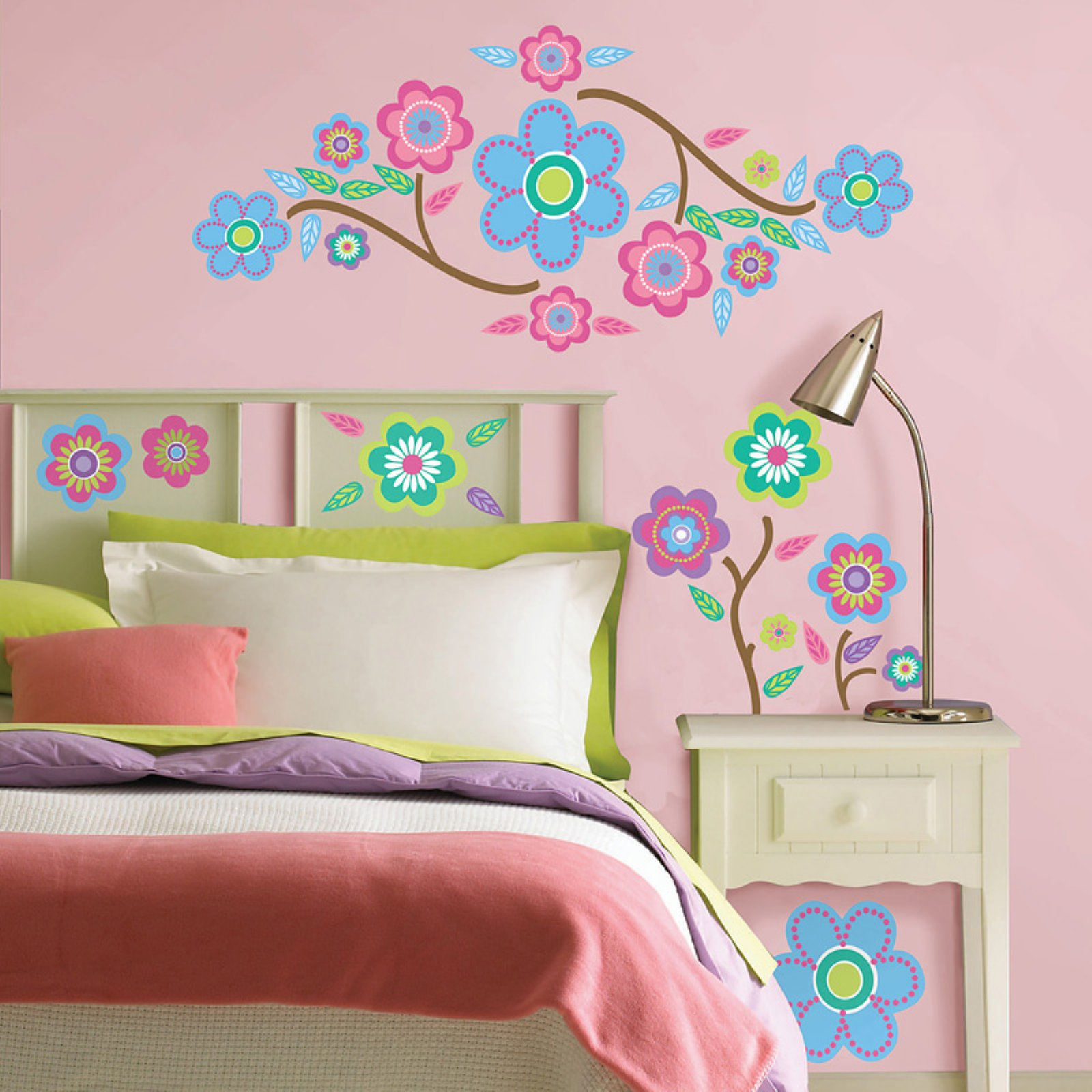 Wall Pops Cutsie Blooms (64 Pc) Wall Decals