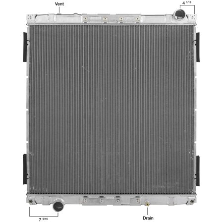 Spectra 2001 1727 Complete Radiator Walmart Com
