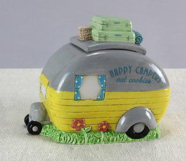 """""""Happy Campers Eat Cookies"""" Ceramic Cookie Jar, Happy Campers Eat Cookies. By Heart of America by"""