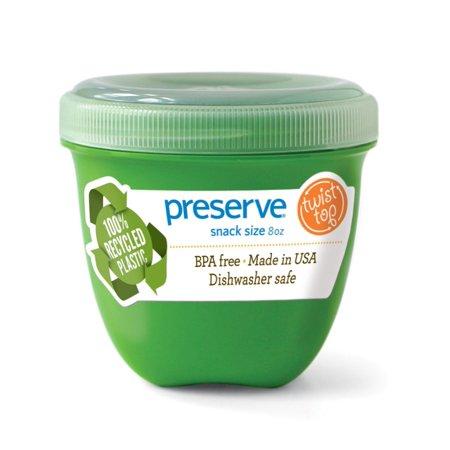 Preserve Food Storage Container, Round, 8 Oz, Apple Green ()