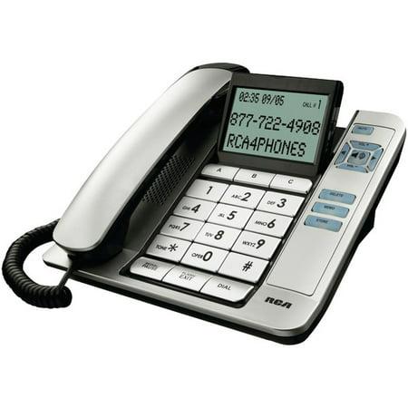 Desktop Phone - RCA 1113-1BSGA Corded Desktop Phone with Caller ID (Silver)