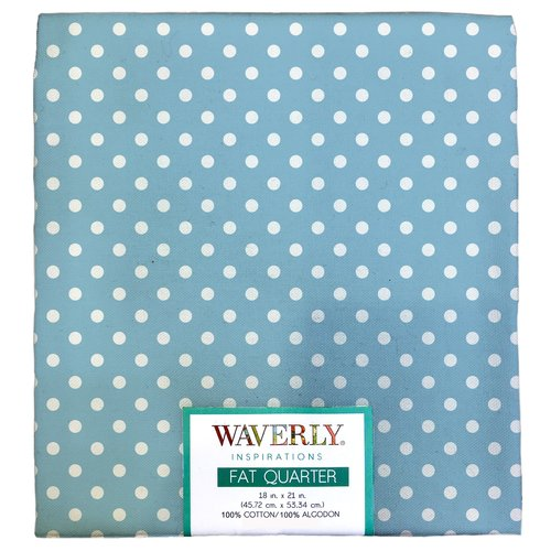 "Waverly Inspiration Fat Quarter 100% Cotton, Medium Dot Print Fabric, Quilting Fabric, Craft fabric, 18"" by 21"", 140 GSM"