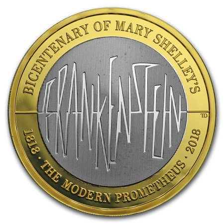 2018 Great Britain £2 Silver Proof Frankenstein 200th (1992 White House 200th Anniversary Proof Silver Dollar)